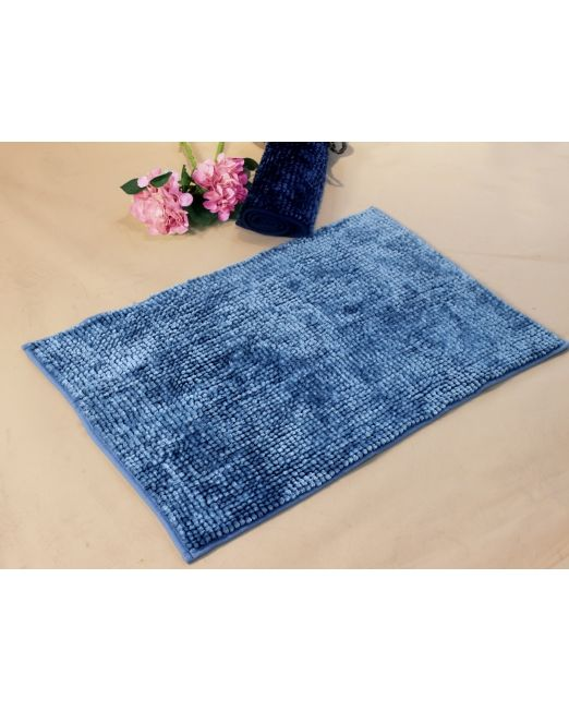 036117 - BATH MAT CHENILLE TOGGLE 2TONE AZURE BLUE (3)