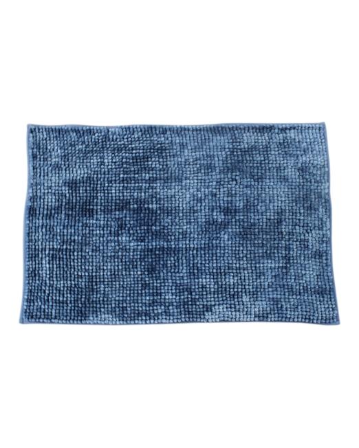 036117 - BATH MAT CHENILLE TOGGLE 2TONE AZURE BLUE (4)