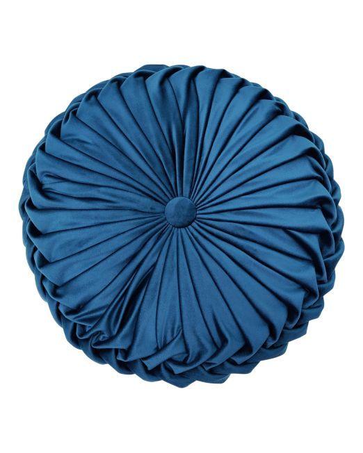 664960 CR VELV RND CUSH DARK BLUE 38C