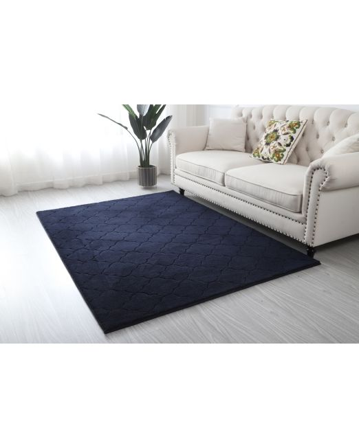 985956, 985957 - DIAMOND RUG MF CUT PATTERN DARK BLUE (2)