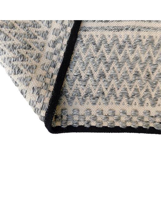 985976, 985977 Rug ZigZag Grey Cream Handwoven Flatweave (7)