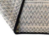 Zig Zag Handwoven Flatweave Grey/Cream