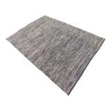 Bobble Rug Handwoven Flatweave Grey