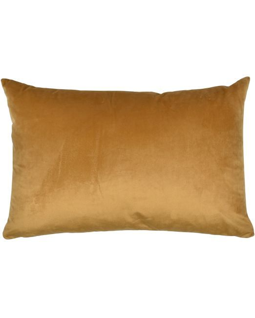663716 Cushion Velvet Feather Filled 40x60cm GOLD_2