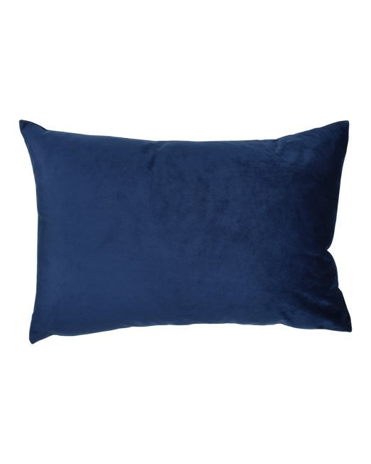 663718 Cushion Velvet Feather Filled 40x60cm NAVY