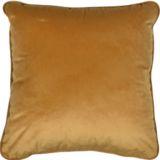 Velvet Feather Filled Cushion 45x45cm Gold