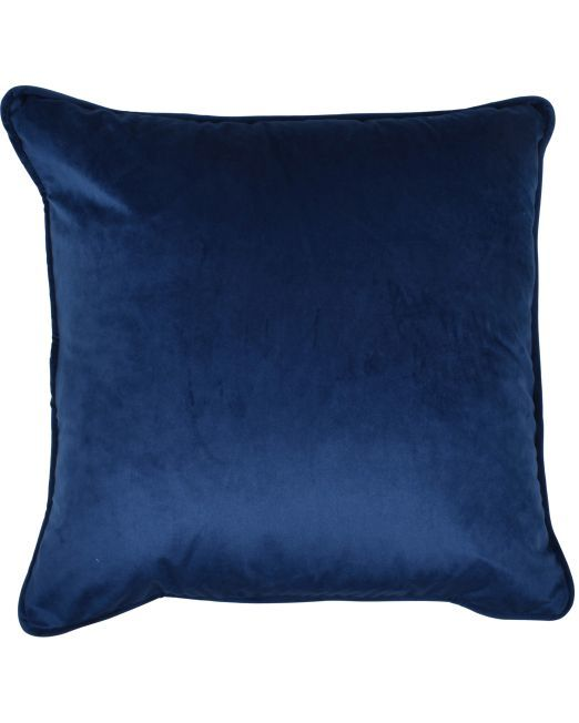 663724 Cushion Velvet Feather Filled 45x45cm NAVY_2