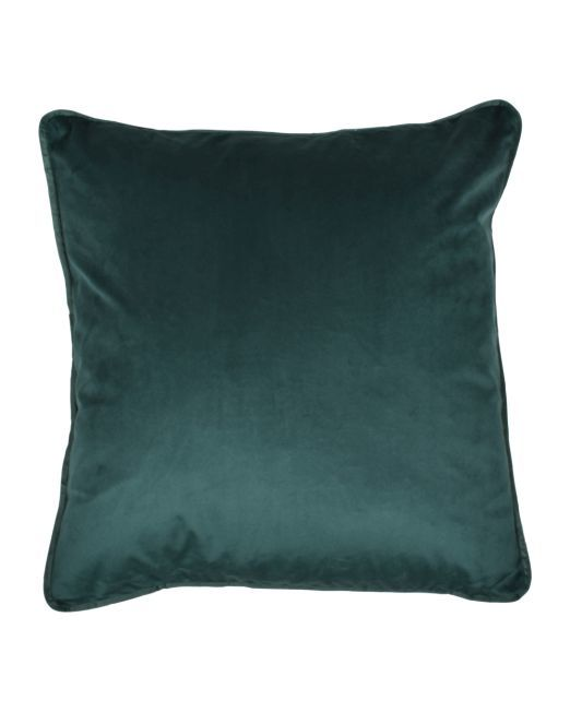 663987 Cushion Velvet Feather Emerald Green 45 x 45cm