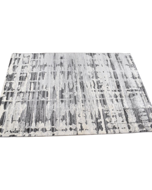 985044 SAPHIRE RUG 160X230 ABS BLKGRY