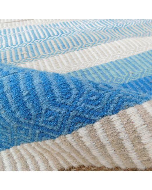985987 RUG STRIPE BLUE MULTI 160X230 BLUE TONE HANDWOVEN FLATWEAVE (3)