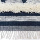 Tribal Thick Tufted Rug Handwoven Flatweave Grey/White