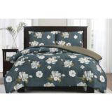 Navy Rose Comforter Set