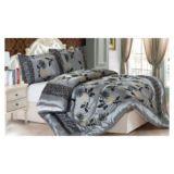 Comforter Set Grey Chrysanthemum