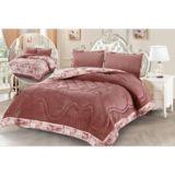 Liz Velvet Dusty Rose Comforter Set