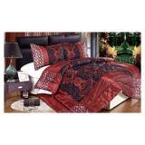 Comforter Set Red Fleur