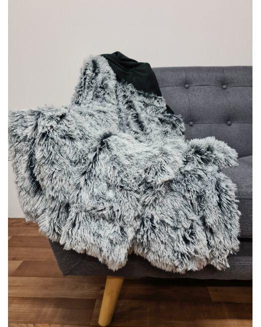 665878 Mammoth Throw 2 Tone Black and White