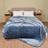 Casa Rosso Faux Mink Blanket Blue Mist