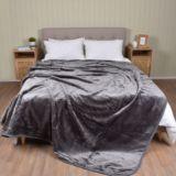 Casa Rosso Faux Mink Blanket Charcoal