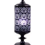 Cutout Moroccan Black Lamp 16x39cm
