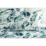 Vintage Pillowcase Pinsonic Stitch Blue Jungle 2pc